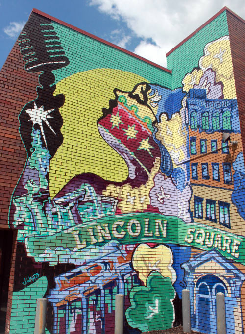 Lincoln Square Artwork | Photo Source: Wescover.com