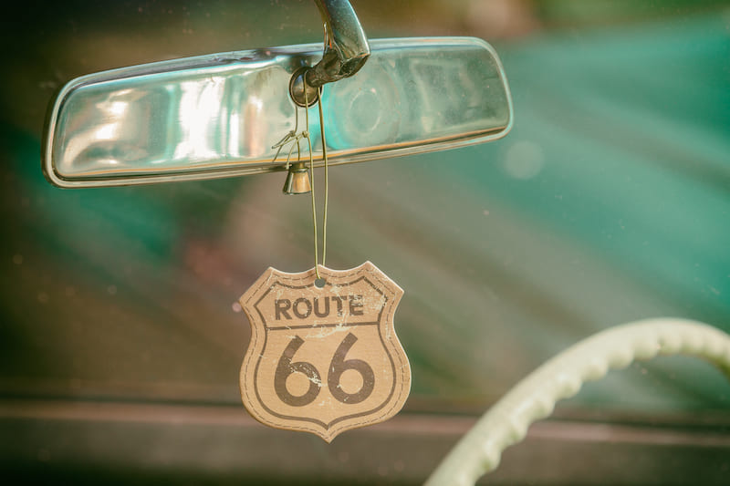 Classic car on Route 66
