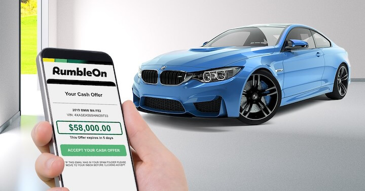 RumbleOn cash offer to sell a car