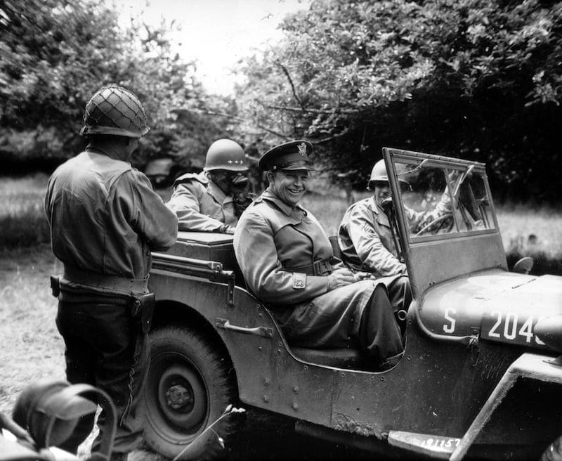 General Dwight D. Eisenhower in his jeep