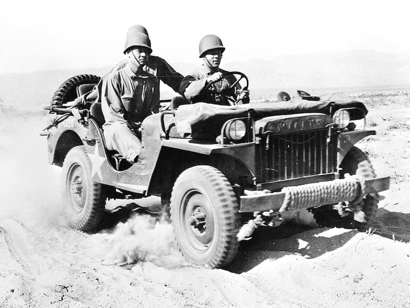 Willys MA jeep at the Desert Training Center, Indio, California, June 1942.