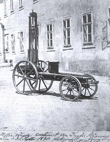 Siegfried Marcus' gasoline powered vehicle