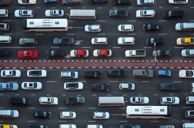 How to get better gas mileage in traffic